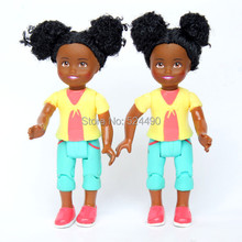 5 PCS Genuine Small Kelly dolls Africa Black Kids Girls for Barbie doll Baby Toy Free Shipping Birthday Gift(China)