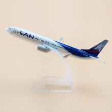 16cm Alloy Metal Air Chile LAN Airlines Plane Model Boeing B737 800 CC-COP Airplane Model with Stand  Decoration Gift