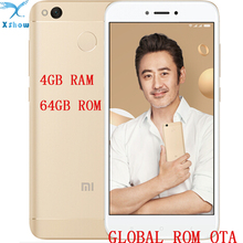 "brand new Xiaomi Redmi 4X pro prime 4GB RAM 64GB ROM Fingerprint Snapdragon 435 OctaCore 5.0"" 720P 13MP Camera mobilephone(China)"