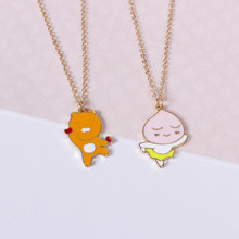 Korean version of the super cute Peach Jun / Lion King necklace chain of European and American foreign trade jewelry wholesale