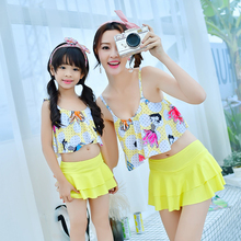 Mother and Daughter Clothes Swimsuit beachwear for family Mother and Girls Swimming Clothing Mom and Daughter Swimwear