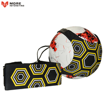 Top quality Sports Assistance Adjustable Football Trainer Soccer Ball Practice Belt Training Equipment Kick(China)