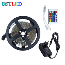 LED Stripe Light Kit 5M 10M 2835 RGB LED Bande with DC12V power + 24 Key RGB Controller for Home Party Birthday Xmas decoration(China)