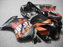 Motorcycle Fairing kit for HONDA VFR800 02 03 04 05 06 07 08 VFR 800 2002 2006 2008 ABS Orange black Fairings set+7gifts VA06