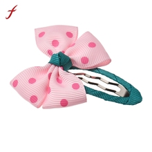 1PC Bow Hairpin  Girls Lovely Bowknot Hairpins Perfect Quality Hair band Hair Accessories for Kids Hair Accessories Kids Hairpin