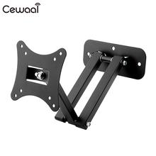 "Cewaal black Articulating Adjustable Swivel Tilt LED LCD TV Wall Mount Brackets 10""~26"" support 50kg Stand(China)"