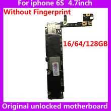 IOS System Logic board for iphone 6S 100% Original motherboard 16GB 64GB 128GB unlocked Mainboard without Touch ID for iphone6S(China)
