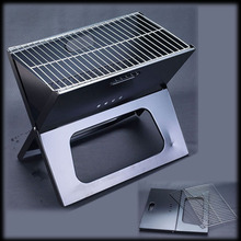 by dhl or ems 50pcs Portable Outdoor Camping Charbroiler BBQ Charcoal Grills Foldable(China)