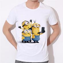 Minions printing T-shirts for men pictures Fashion minions skull printed men t-shirt short sleeve funny tee shirts 18-2#