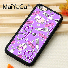Nurse Medical Medicine Health Heart Printed Soft TPU Skin Phone Case For iPhone 6 6S Plus 7 7 Plus 5 5S 5C SE 4 Cases Back Cover