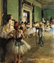 Painting for sale The Ballet Class by Edgar Degas Canvas High quality Hand painted(China)