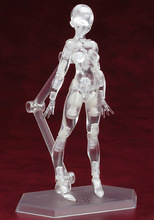 Transparent 13cm sketch drawing cartoon mannequin male/female model plastic massage model with stand free shipping