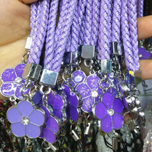 New Mobile Phone Nylon Weave Straps Lanyard Accessories Lobster Clasp Neck Lanyards for keys ID Cards Sports Lanyards Flowers