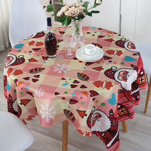 Christmas Table Cloth Hot Santa Claus Novelty Design Waterproof Oilproof Polyester Tablecloth Customized Acceptable