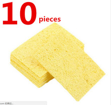 High Temperature Enduring Condense Electric Welding Soldering Iron Cleaning Sponge Yellow