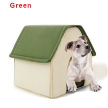 New Design solid Removable Cover cotton warm Pet dog house bed Fashion Autumn Winter cat bed mat for small dogs goods for pets(China)