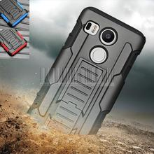 Buy 2015 New Phone Case LG Nexus 5X 2015 Rugged Impact Armor Holster Hard Hybrid Shockproof Case Cover+Belt Clip for $3.99 in AliExpress store