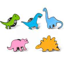New Fashion 1 pcs Women Jewelry accessories metal dragon dinosaur enamel yellow Mint Green blue Pink Cartoon Brooches for Women(China)