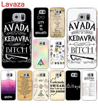 Lavaza Harry Potter Party Ideas mobile phone bag Hard Transparent for Galaxy S4 S5 & Mini S6 S7 S8 edge S6 Edge Plus(China)