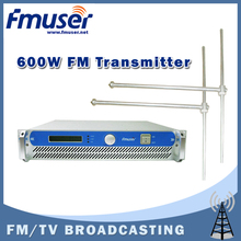 Free shipping FMUSER FSN-600 600W Professional FM Broadcast Radio Transmitter + 2*FU-DV1 Dipole Antenna +30m 1/2'' Cable