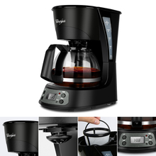 Cafe Americano Coffee Machine Automatic 24h Reservation Coffee Makers Household Drip Coffee&tea Tool Mini Portable Coffee Maker(China)
