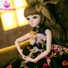 UCanaan 12 Style 60CM BJD Doll 18 Joints Princess With Out Fit Shoes Wig Wedding Dress Makeup 1/3 BJD SD Doll Girls DIY Toys(China)