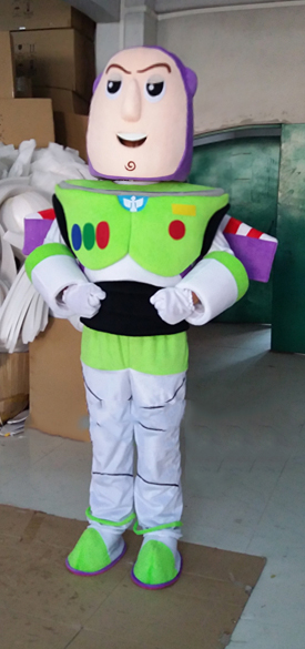 Buzz Lightyear Mascot Costume Cartoon Fancy Dress Mascot CostumeCosplay Mascot Costume  Adult Size Fancy Dress Free Shipping