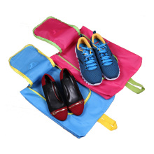 5pcs/set Shoes Bags Polyester Travel Pack Shoe Pouch Waterproof and Dustproof 39*33cm Pink Blue Travel Shoes Storage bags B007
