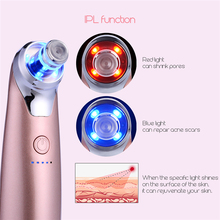 Electric Facial Massager Acne Microdermabrasion Vacuum Suction Machine Deep Clean IPL Treatment Peeling Skin Beauty Device S5051