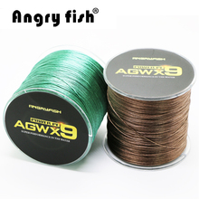 Angryfish 9 Strands Weaves Braided Fishing Line Super Strong PE Line 15LB-100LB(China)