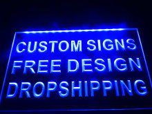 design your own Custom LED Neon Light Sign Bar open Dropshipping
