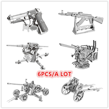 NANYUAN AK-47 GUN TOYS Puzzle 4WD Destroyer 6pcs/ a Lot 3D Metal Assembly Model Classic collection of desktop decoration gifts(China)