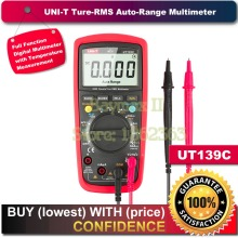 "UNI-T UT139C True RMS 2.6"" LCD Digital Multimeter Electrical Handheld Tester Multimetro LCR Meter Ammeter Multitester(China)"