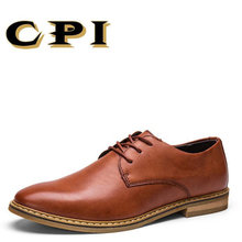CPI 2018 New men's dress leather shoes British Style Fashion design Business Office Party Simple Gentleman men's shoes CC-20(China)
