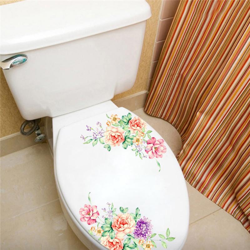 HTB1EDONmWagSKJjy0Fbq6y.mVXaM - Colorful Romantic Peony Flowers Sticker For Toilet