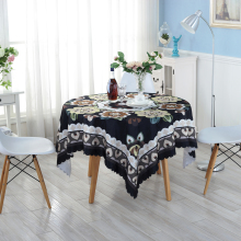 Eco-friendly Black Creative Table Cloth Home Wedding Table Tablecloth Creative Customized Acceptable Table Cloth ZH-7(China)