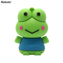Cute Cartoon Frog USB Flash Drive 64GB Memory Stick 4GB 8GB 16GB 32GB Pen Drive The latest design Usb stick U disk