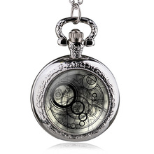 New Fashion UK Hot Movie Doctor Who Theme Quartz Pendant Pocket Watch With Chain Necklace Best Gift