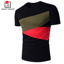 Brand 2017 Male Slim Fit T Shirt Stitching O-Neck Mens Cotton Short Sleeve T-Shirts Men Summer Tee Casual Tshirt Pokemon - Cy's Boutique trend Store store