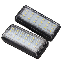 2pcs LED Car License Plate Lights for Toyota Land Cruiser Prado Reiz Mark X SMD3528 Auto Number Plate Lamp for Lexus LX470 LX570(China)