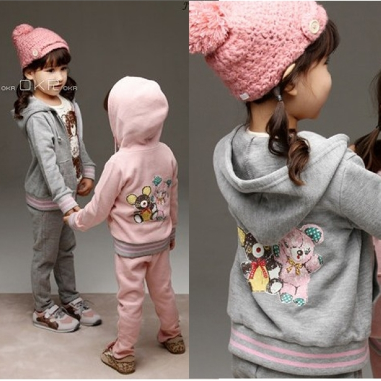 Free shipping spring/fall girl clothing set girl suit long sleeve sweatshirt and pants children clothing suit<br><br>Aliexpress