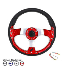 "CNSPEED Auto Car Auto Universal Steering wheel 13"" 320mm racing Steering Wheel 6 Holes PU Steering wheels Blue Sliver Red Black(China)"