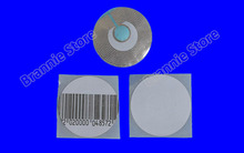 5000pcs/lot Round EAS RF soft label 8.2mhz for supermarket R40mm EAS checkpoint security soft tag free shipping