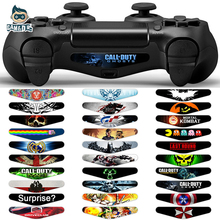 5pcs Cool Colorful Vinyl Decal Skin Sticker for Sony Play Station 4 PS4 Controller Led Lightbar