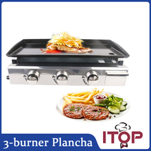 ITOP 3 BURNERS Gas BBQ Grill LPG Plancha Stainless Steel Body+burner US in stock(China)