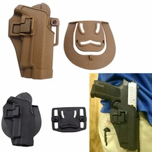 Tactical CQC Gun Pistol Holster Airsoft Right Hand Black/Tan Belt Holster for SIG Sauer P220 P226 P229 HT31-0006(China)