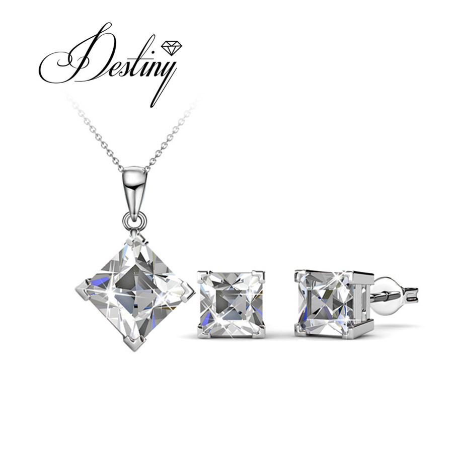 Destiny Jewellery Embellished with crystals from Swarovski Jewellery sets Classic Jewellery sets DS033(China)