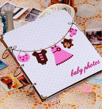 12 inch DIY Scrapbooking Children Baby Memory Photo Album Baby Growth Handmade Picture Album Free Shipping