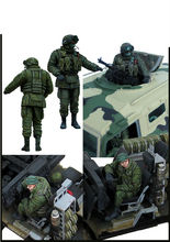 [tuskmodel] 1 35 scale resin model kit JMP - 2 Tiger Modern Russian Soldiers(China)