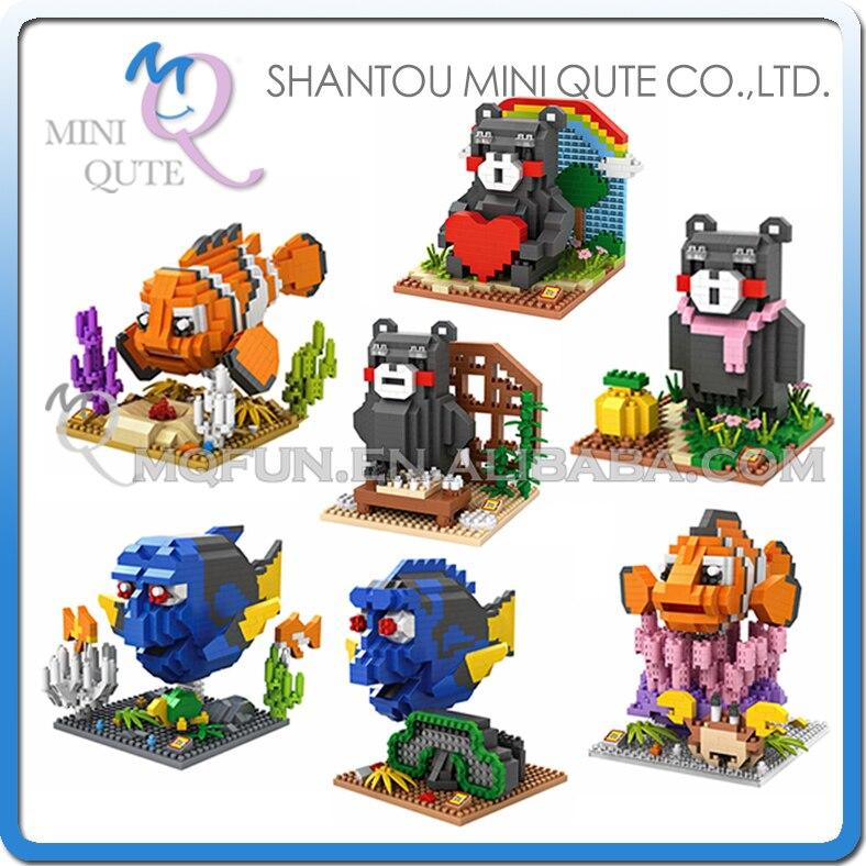 Mini Qute LOZ kawaii Finding Nemo Marlin Charlie Dory cartoon japanese Kumamon bear plastic building blocks educational toy<br><br>Aliexpress